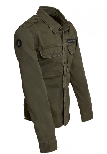 Death's Badge Overshirt Olive