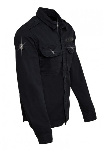 Death's Badge Overshirt Vintage Black