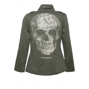 Death's Head Army Jacke Oliv