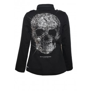 Death's Head Army Jacke Black