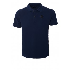 Death's Head Navy Polo - Guy
