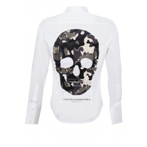 Camouflage Skull Bluse