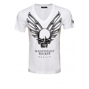 WingSkull V-Shirt - Guy