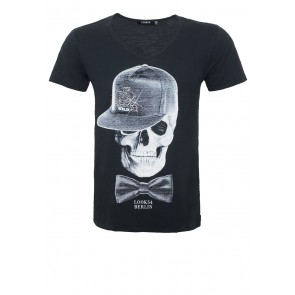 LOOK54 BRAND FETISH Cap Skull V-Shirt