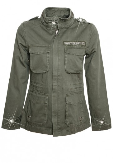 Death's Head Army Jacket Olive
