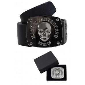 Death's Head Belt incl. 2 Buckles in colour of choice
