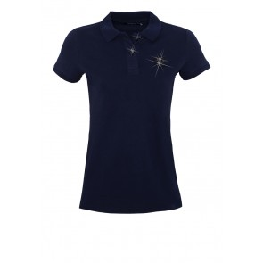 Death's Head Navy Polo - Girl