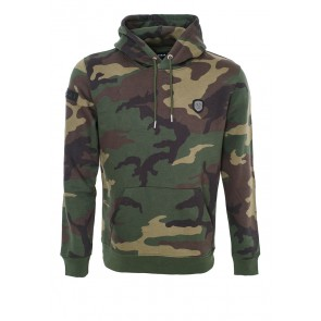 HAUPTSTADTROCKER Death's Badge Camouflage Hoodie