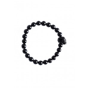 Death's Head Bracelet Black - Girl