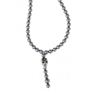 Death's Head Necklace Anthracite