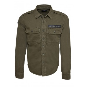 Death's Badge Shirt Olive